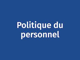 Politique du personnel